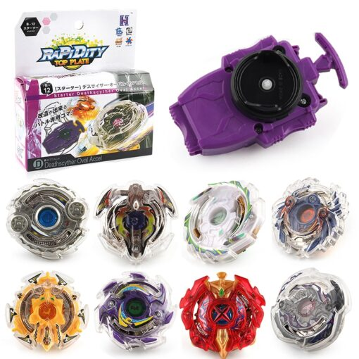 Tops Launchers Spinning Top Launcher Metal Fusion 4D Original Box Spinning Top Gifts Hardware Toys Spinning