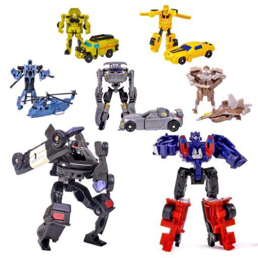 Transformation Robot Car Kit Deformation Robot Action Figures Toy for Boy Vehicle Model Kids Gift 1