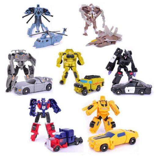 Transformation Robot Car Kit Deformation Robot Action Figures Toy for Boy Vehicle Model Kids Gift 2