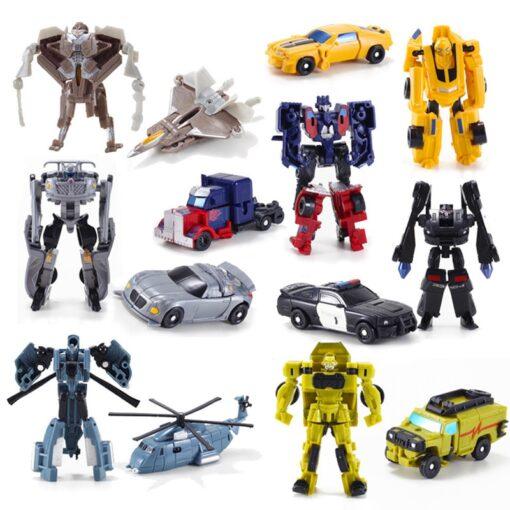 Transformation Robot Car Kit Deformation Robot Action Figures Toy for Boy Vehicle Model Kids Gift 3