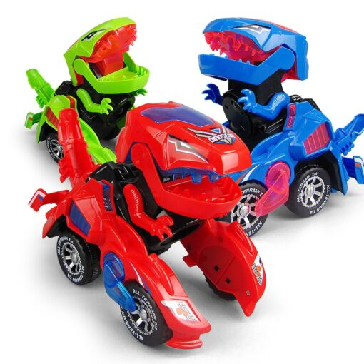 Transforming Dinosaur LED Car Electric Toy Toys With Light Sound 1