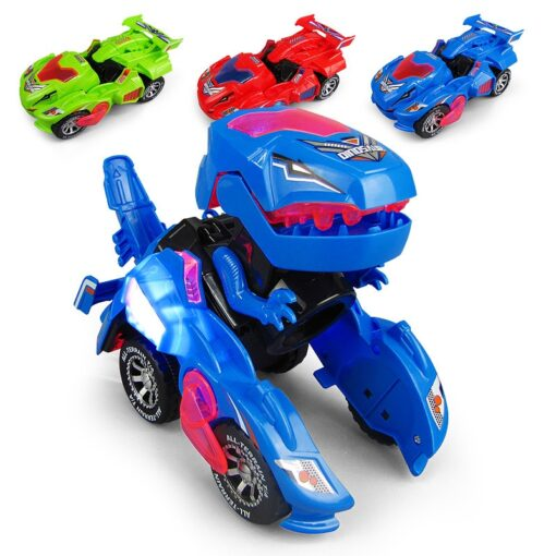 Transforming Dinosaur LED Car Electric Toy Toys With Light Sound 2