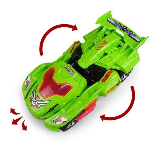 Transforming Dinosaur LED Car Electric Toy Toys With Light Sound 3