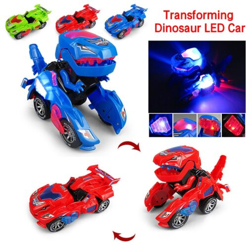 Transforming Dinosaur LED Car Electric Toy Toys With Light Sound