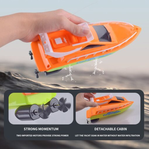 Twin Motor High Speed Boat Easy To Use Remote Control Ship Toys For kids toys for 5
