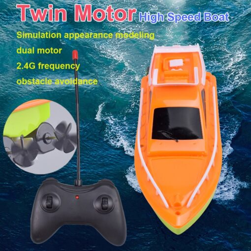 Twin Motor High Speed Boat Easy To Use Remote Control Ship Toys For kids toys for