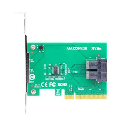 U 2 NVMe SSD SFF8643 to SFF 8639 NVMe U 2 without Cable PCIe x8 Dual 2