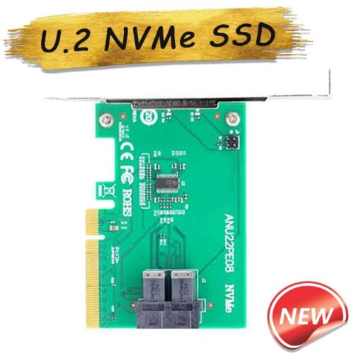 U 2 NVMe SSD SFF8643 to SFF 8639 NVMe U 2 without Cable PCIe x8 Dual