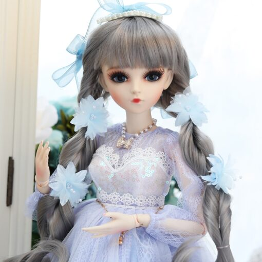 UCanaan 1 3 BJD Doll 60CM 18 Ball Jointed Dolls With Outfits Palace Maxi Dress Wig 2