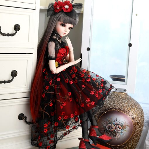 UCanaan 1 3 BJD Doll 60CM 18 Ball Jointed Dolls With Outfits Palace Maxi Dress Wig 3