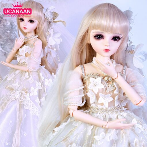 UCanaan 1 3 BJD Doll 60CM 18 Ball Jointed Dolls With Outfits Palace Maxi Dress Wig