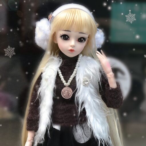 UCanaan BJD Doll 60CM 1 3 Fashion Girls SD Dolls 18 Ball Jointed Doll With Outfits 2