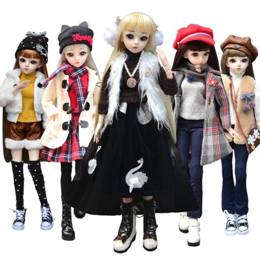UCanaan BJD Doll 60CM 1 3 Fashion Girls SD Dolls 18 Ball Jointed Doll With Outfits 5