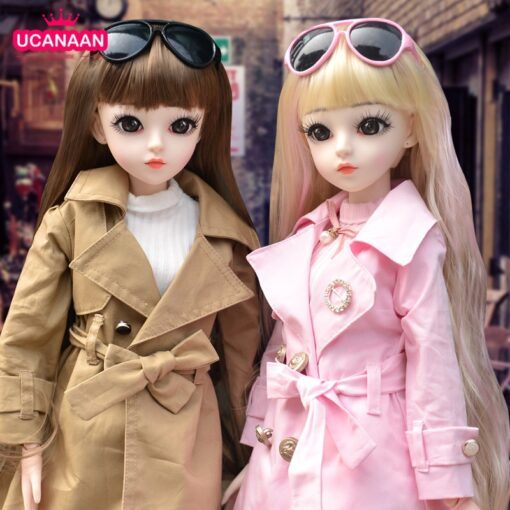 UCanaan BJD Doll 60CM 1 3 Fashion Girls SD Dolls 18 Ball Jointed Doll With Outfits