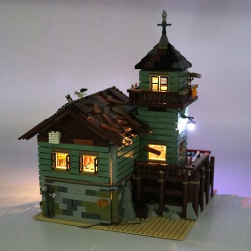 USB LED Lighting Kit Only for 21310 for Fisherman Cabin Fishing Store Building Blocks Toy Bricks 1
