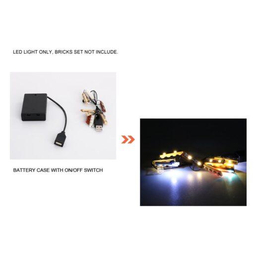 USB LED Lighting Kit Only for 21310 for Fisherman Cabin Fishing Store Building Blocks Toy Bricks 4