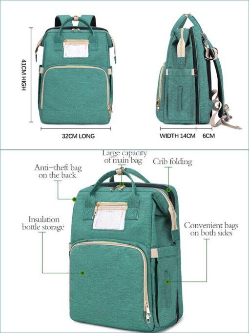 Umaubaby Pre design Baby Diaper Bag Waterproof Maternity Bag For Stroller Nappy Bag Large Capacity Multifunction 2