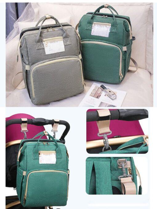 Umaubaby Pre design Baby Diaper Bag Waterproof Maternity Bag For Stroller Nappy Bag Large Capacity Multifunction 4