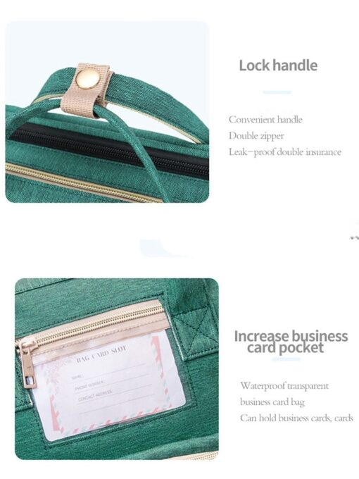 Umaubaby Pre design Baby Diaper Bag Waterproof Maternity Bag For Stroller Nappy Bag Large Capacity Multifunction 5