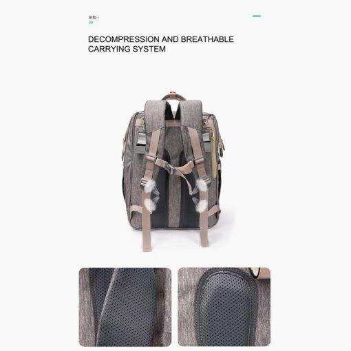 Umaubaby Pre design baby Diaper bags for mummy USB Baby Care Backpack Multifunction waterproof maternity bag 1