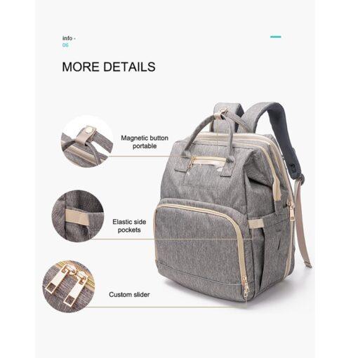 Umaubaby Pre design baby Diaper bags for mummy USB Baby Care Backpack Multifunction waterproof maternity bag 3