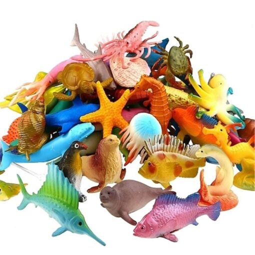 Underwater Deep Sea Creatures Tropical fish Shark Animal Action Figures Sea Creatures Educational Toys for Kids 5