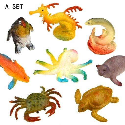 Underwater Deep Sea Creatures Tropical fish Shark Animal Action Figures Sea Creatures Educational Toys for Kids