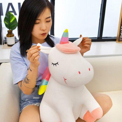 Unicorn doll Stuffed toy Beast figurine Down cotton Children s birthday gifts Claw machine Scissors machine 1