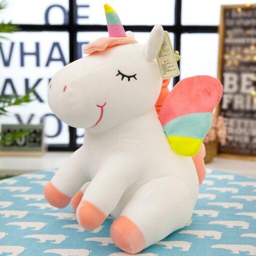 Unicorn doll Stuffed toy Beast figurine Down cotton Children s birthday gifts Claw machine Scissors machine 2
