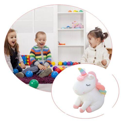 Unicorn doll Stuffed toy Beast figurine Down cotton Children s birthday gifts Claw machine Scissors machine 3