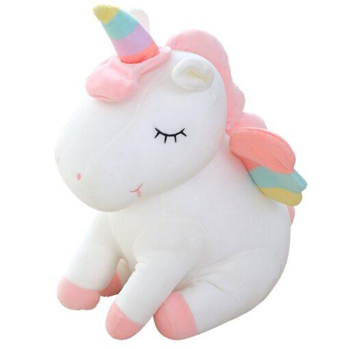 Unicorn doll Stuffed toy Beast figurine Down cotton Children s birthday gifts Claw machine Scissors machine