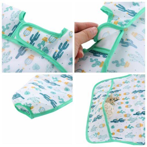 Unisex Infant Toddler Baby Smock Feeding Accessories Waterproof Cartoon Long Sleeved Bib Burp Cloths Kids 5