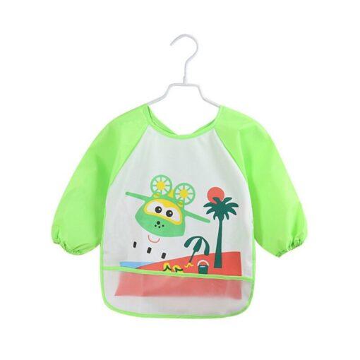 Unisex Infant Toddler Baby Waterproof Long Sleeved Bib Burp Cloths Kids Cartoon Smock Feeding Accessories Baby 2