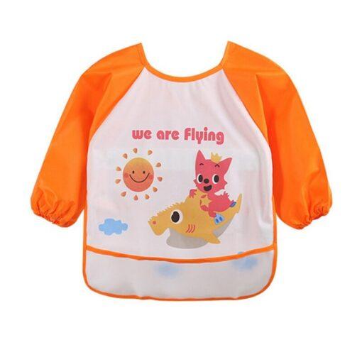 Unisex Infant Toddler Baby Waterproof Long Sleeved Bib Burp Cloths Kids Cartoon Smock Feeding Accessories Baby 3