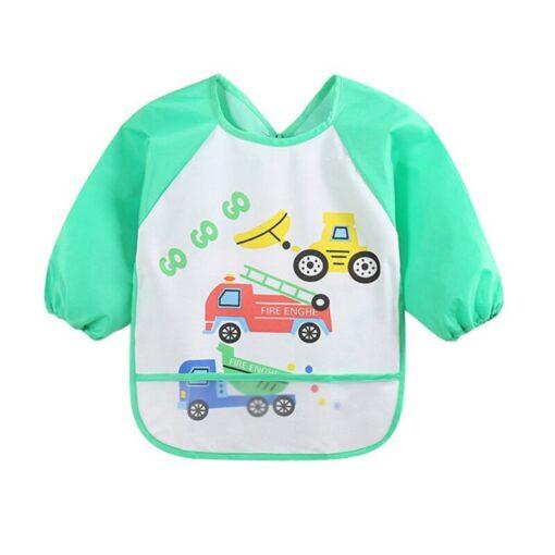 Unisex Infant Toddler Baby Waterproof Long Sleeved Bib Burp Cloths Kids Cartoon Smock Feeding Accessories Baby 4