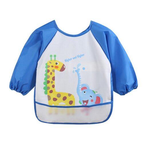 Unisex Infant Toddler Baby Waterproof Long Sleeved Bib Burp Cloths Kids Cartoon Smock Feeding Accessories Waterproof 3