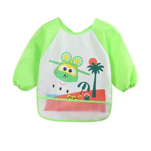 Unisex Infant Toddler Baby Waterproof Long Sleeved Bib Burp Cloths Kids Cartoon Smock Feeding Accessories Waterproof 4
