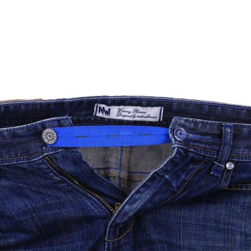 Unisex Jeans Trousers Waist Expander Waistband Extender Button Elastic Adjustment Waist Button Belt Extension Buckle 5