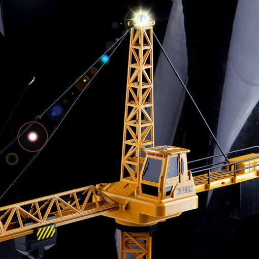 Upgraded Version Remote Control Construction Crane 6CH 128CM 680 Rotation Lift Model 2 4G RC Tower 1