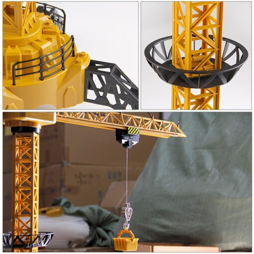 Upgraded Version Remote Control Construction Crane 6CH 128CM 680 Rotation Lift Model 2 4G RC Tower 2