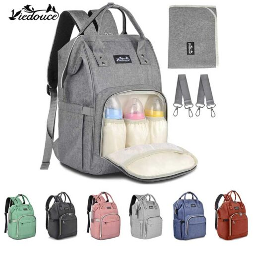 Viedouce thermal insulated baby changing bag baby diaper bag nappy backpack mother mom maternity bags with