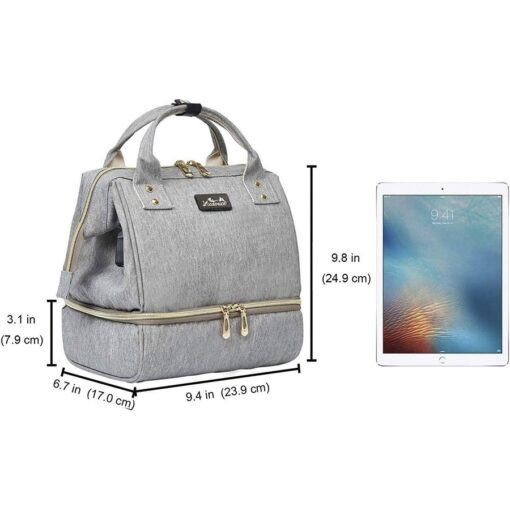 Viedouce thermal insulated school lunch bag travel usb diaper kid men women office lunch cooler box 5