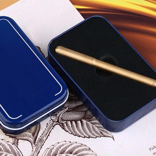 Vintage Moonman Delike Element Full Brass Fountain Pen Metal Ink Pen Writing Nib 0 5mm Ink 3