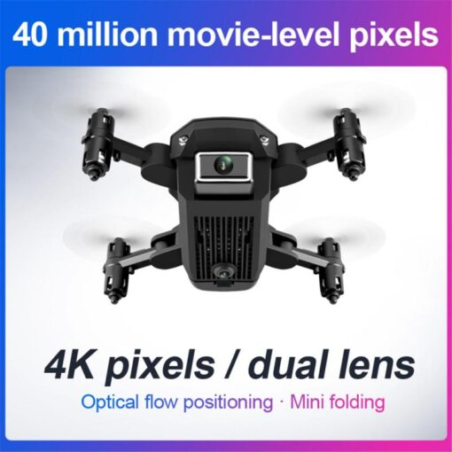 WIFI FPV Drone 4K With Camera Wide Angle HD Camera 2 4GHz RC Drones Altitude Hold 1