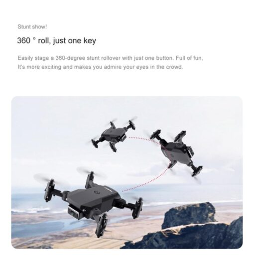 WIFI FPV Drone 4K With Camera Wide Angle HD Camera 2 4GHz RC Drones Altitude Hold 3
