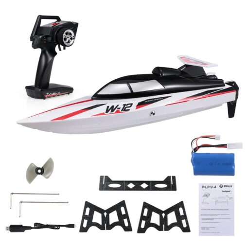 WLtoys WL912 A 35KM H RC Boat 2 4G Radio Controlled Speedboat Capsize Protection Outdoor Motor 5