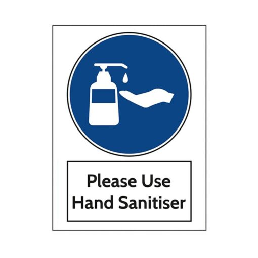Warning wall stickers Use hand sanitiser Please Sign 200mm x 300mm Notice Sticker self adhesive Marker 4