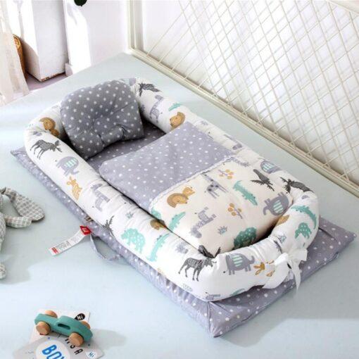 Washable Baby Babynest Cotton Baby Nest Bedding Set Portable Sleeping Bed Newborn Crib Foldable Nursery Bassinet