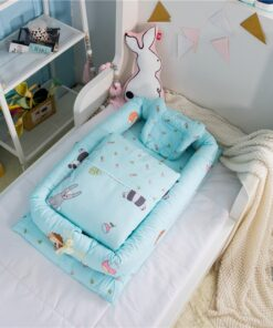 Washable Bed For Baby Care Portable Baby Crib Quilt Infant Toddler Cradle Cot For Newborn Nursery 1