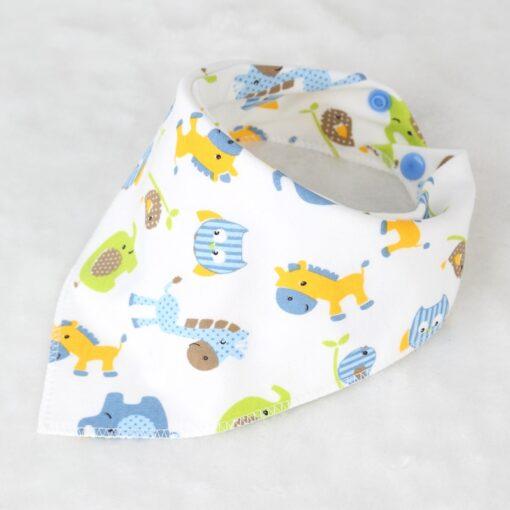 Washable Bib Cotton Soft Convenient Baby Saliva Bibs Triangular Towel Funny Design Cute Cartoon Design Non 2